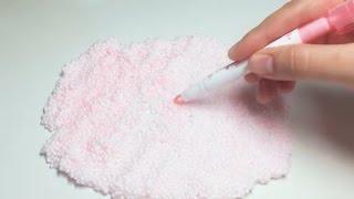 【ASMR】🖋つぶつぶスライムを蛍光ペンで色付けする【音フェチ】 thumbnail