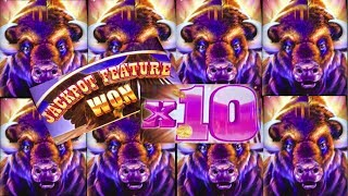 ★BUFFALO GRAND SLOT★ X10 JACKPOT BONUS★CASINO GAMBLING! FOUR WINDS CASINO!