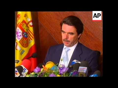 LEBANON: BEIRUT: SPANISH PM AZNAR TOUR OF MIDDLE EAST