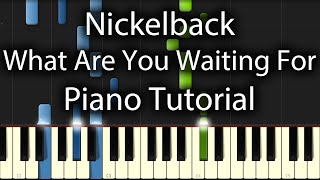 Nickelback - What Are You Waiting For Tutorial (How To Play)