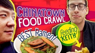 CHINATOWN Food Crawl & BEST Ramen (ft. Keith From Try Guys)