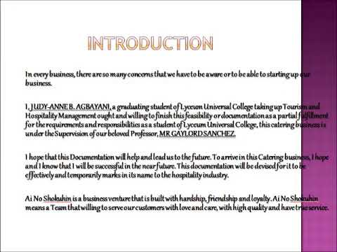 introduction to a restaurant business plan