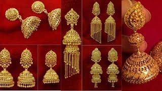 2019 Gold Jhumka Designs | Latest Gold Earrings Jhumka