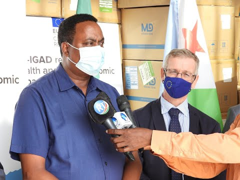 IGAD and EU hand over supplies against COVID 19 to Djibouti Health Minister