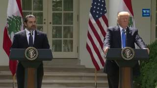 MUST WATCH: President Donald Trump Holds a Joint Press Conference with Prime Minister Hariri