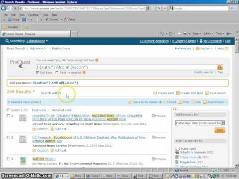 How To Use ProQuest