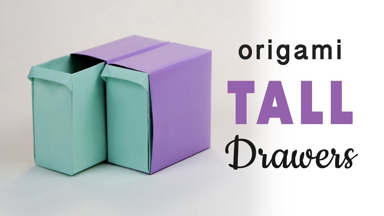 tall origami pullout drawers tutorial ��� diy ��� paper