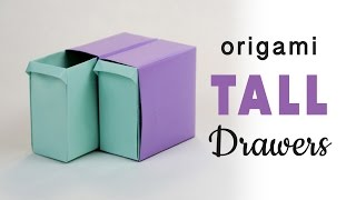 Tall Origami Pull-Out Drawers Tutorial ♥︎ DIY ♥︎ Paper Kawaii