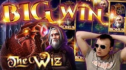 SUPER BIG WIN on New Slot THE WIZ!!