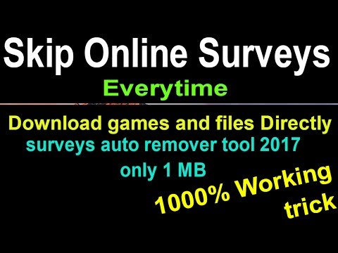 How To Bypass Survey Without Software From Website - Skip Survey | 2017