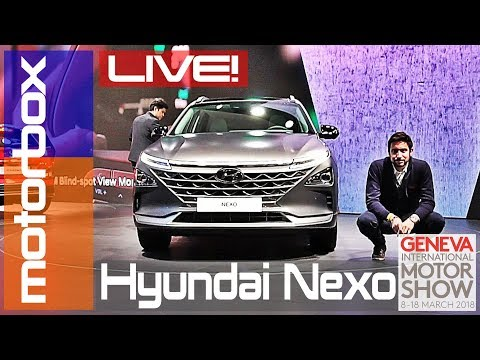 Hyundai Nexo al Salone di Ginevra 2018 il SUV elettrico fuel cell