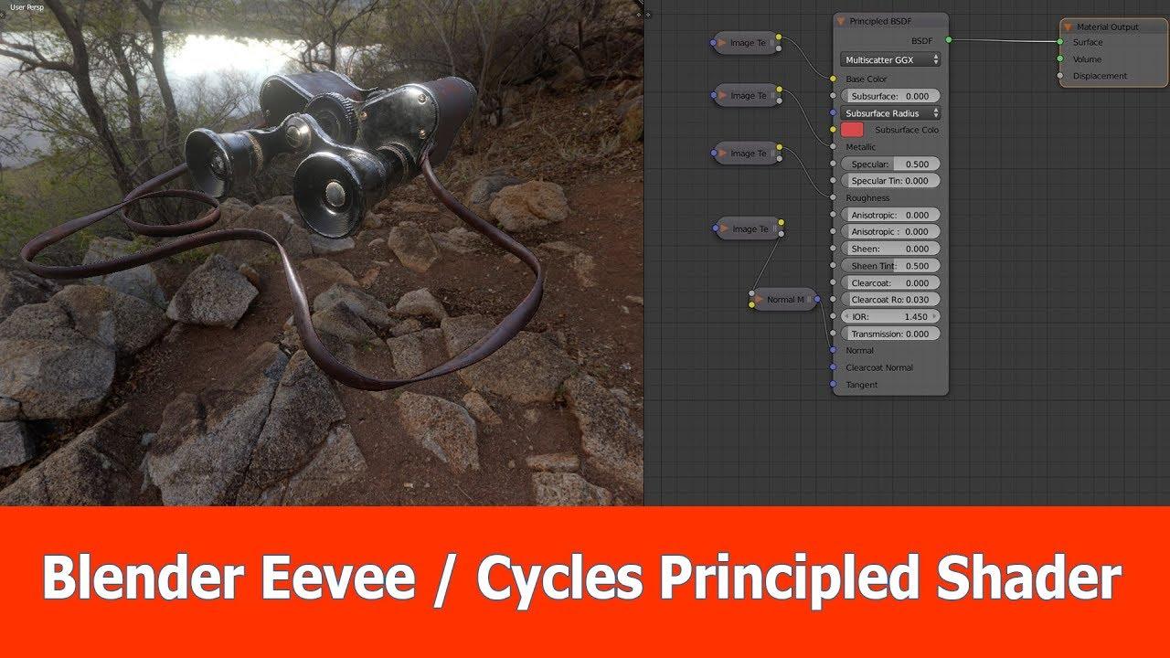 Blender Eevee vs Cycles : Principled PBR Shader | JayAnAm