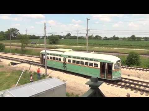Trolley Pageant at the Illinois Railway Museum, July 6, 2013