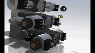 SolidWorks hydraulics - manifolds, valves and HPU
