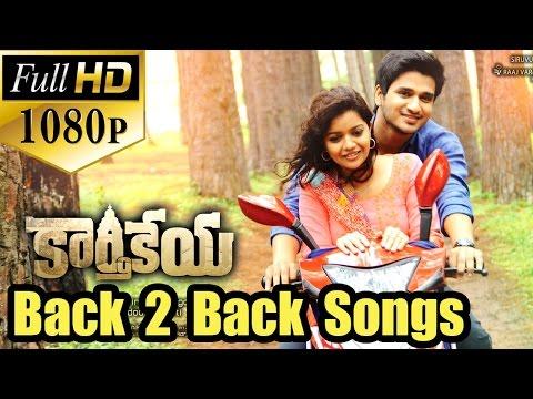 Karthikeya Back 2 Back All Video Songs - Jukebox - Nikhil Siddharth, Swati Reddy - Full HD 1080p..