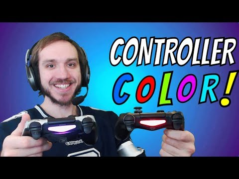 How To Change Color On PS4 Controller Light bar - (Easy Tutorial!)