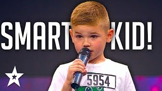 6 Y.O Kid Names All Flags Of The States on Got Talent | Got Talent Global