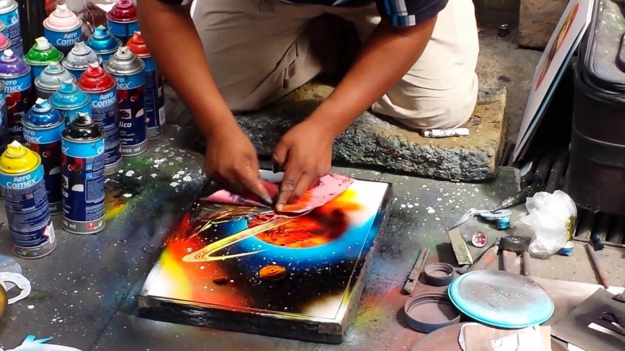 Street Art spray paint - YouTube