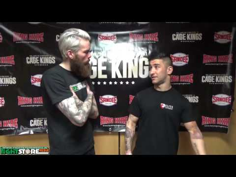 Razvan Piticas post fight interview at Cage Kings Dublin