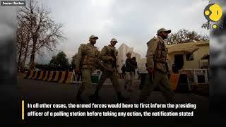 After criticism, Pakistan election commission restricts Army's role in elections