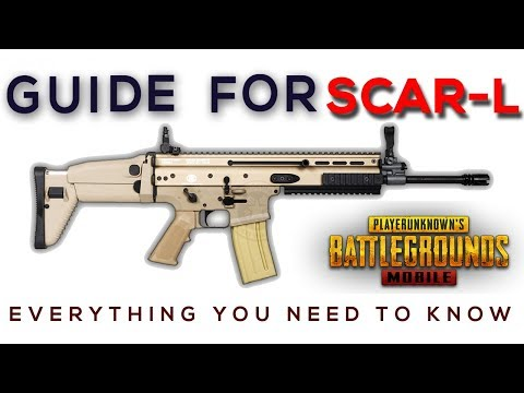 GUIDE FOR SCAR L AND IT'S BEST ATTACHMENT || PUBG MOBILE