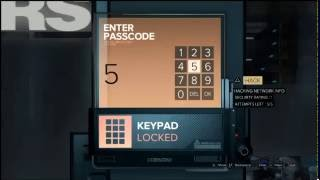 Deus Ex Mankind Divided - TF29 IT Support - Combination Keypad Code