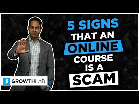 5 signs that an online course is a scam