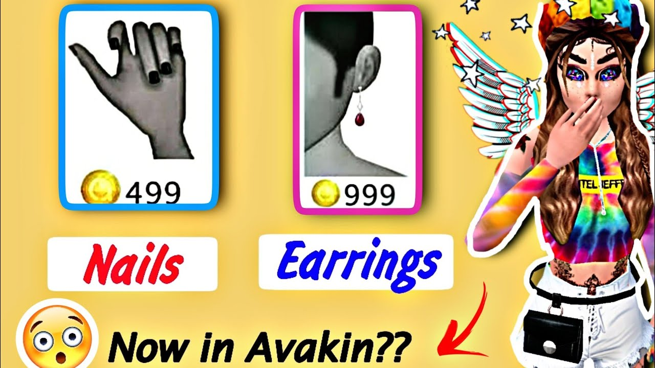 🙀 NAILS , Earrings now in Avakin Life ??