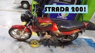 AVALIANDO A MOTO STRADA 200 ANO 97! NOVA MOTO DO CANAL MARIO 7 GALO!