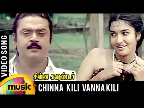Chinna Kili Vanna Kili Video Song | Chinna Gounder Tamil Movie | Vijayakanth | Sukanya | Ilayaraja