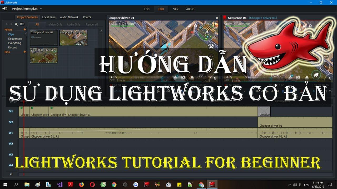 Lightworks 14 – Hướng dẫn chỉnh sửa video cơ bản
