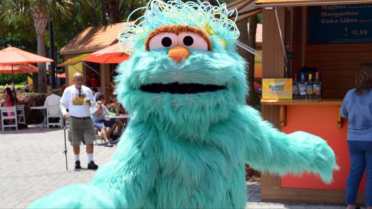 rosita from sesame street dances amp meets us at seaworld