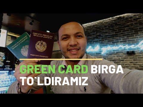 GREENCARD BIRGA TO`LDIRAMIZ.