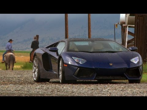 Big Sky Blitz! 2013 Lamborghini Aventador Roadster Guns For 200 MPH in Montana - Epic Drives Ep 21