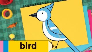 How To Draw A Bird | Simple Drawing Lesson for Kids | Step By Step