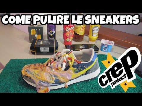Come Pulire Le Sneakers! Test Prodotti CREP!!! Ketchup, Senape, Yogurt. Recensione / Review ITA