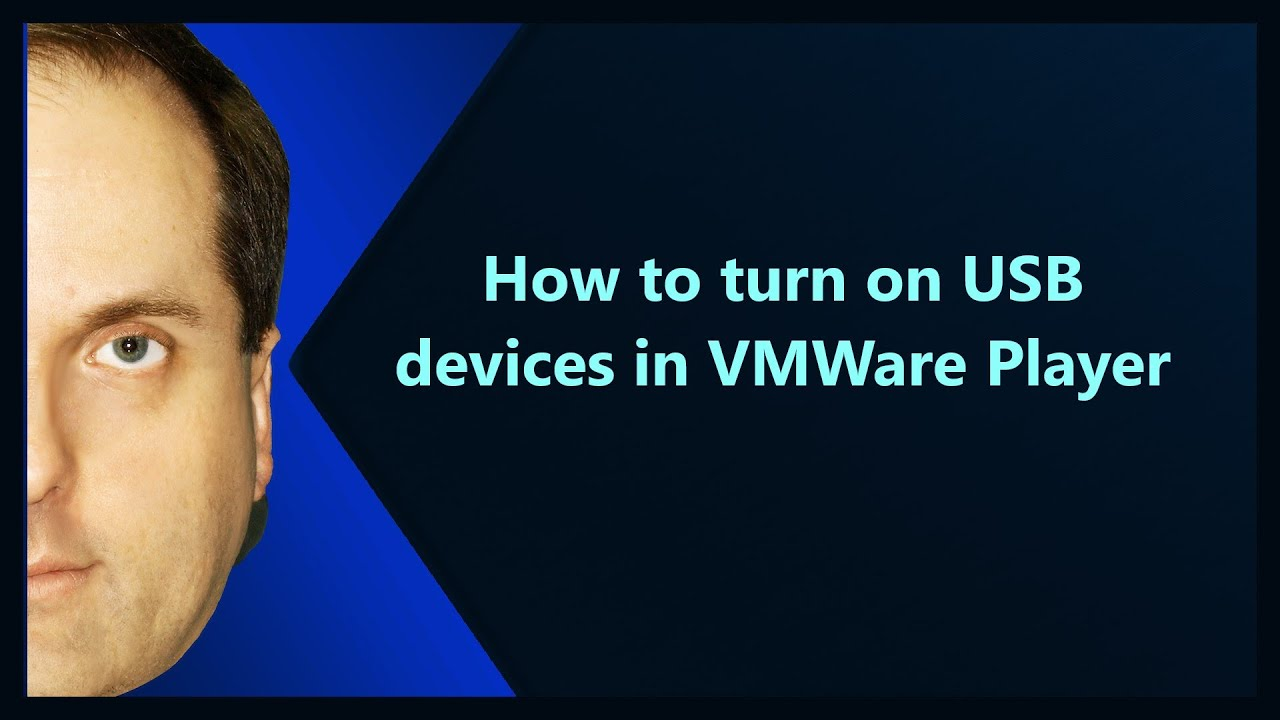 How to turn on USB devices in VMWare Player