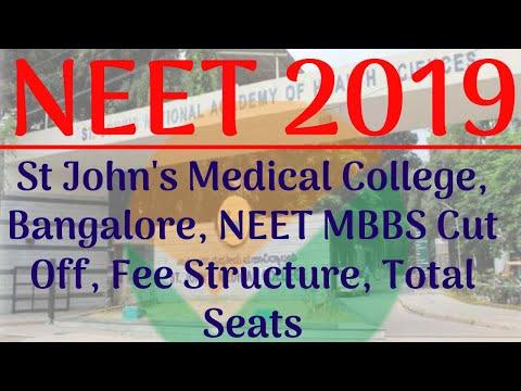 St John's Medical College Bangalore, NEET MBBS Cut Off, Fee