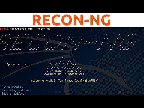 Recon-ng - Generating Reports