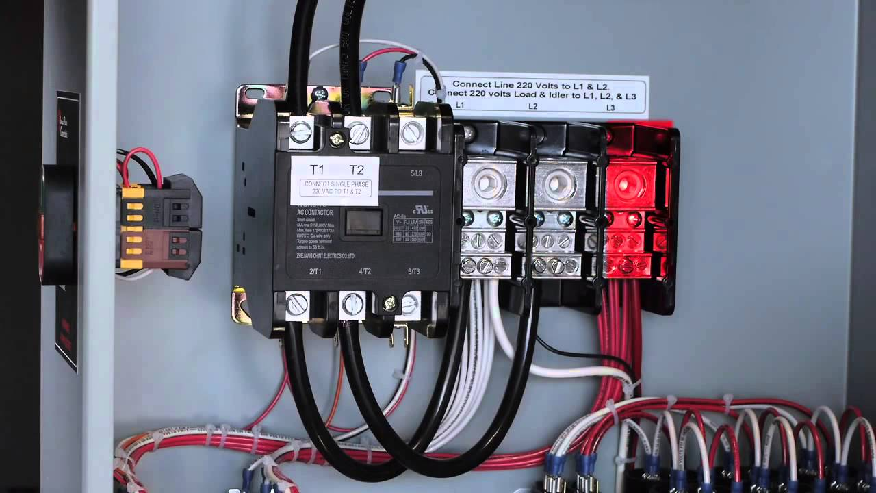 Phoenix Phase Converter YouTube – Rotary Phase Wiring Diagram