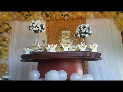Decoraci n comuni n en casa youtube - Decoracion comunion en casa ...