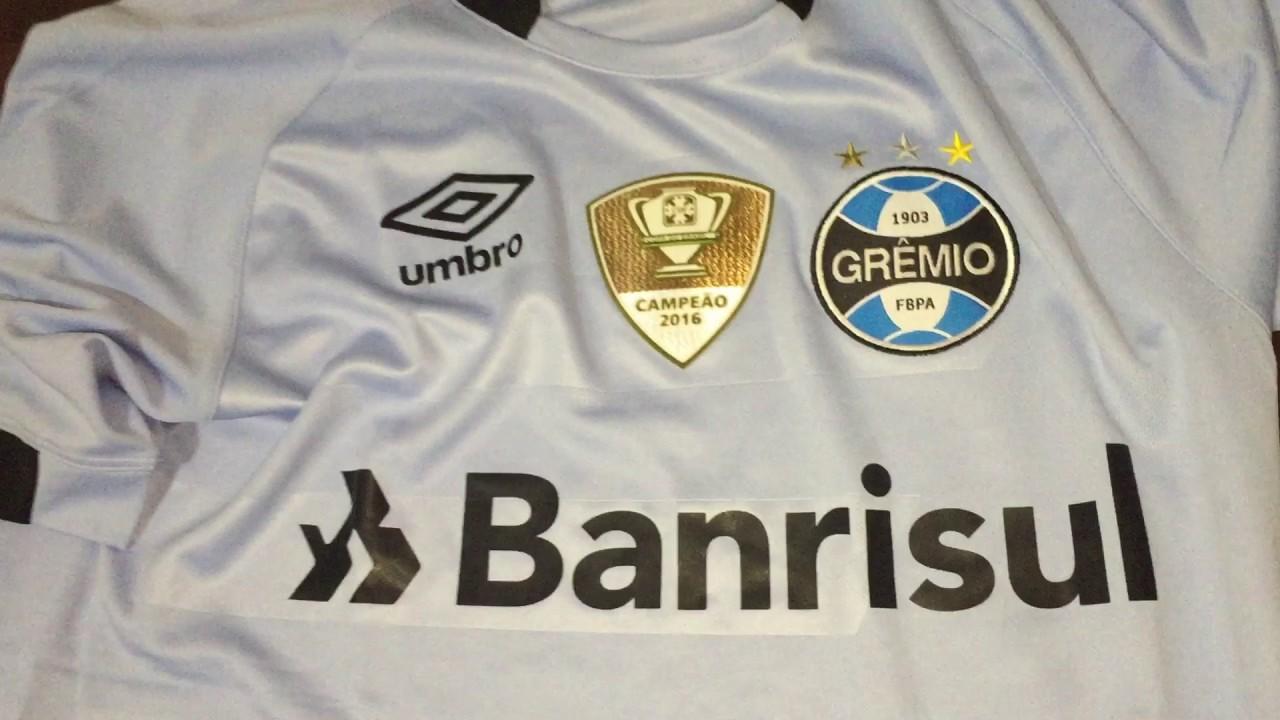 8fc1cccfd1 Camiseta Grêmio Celeste 2017 Campeão Copa do Brasil - YouTube