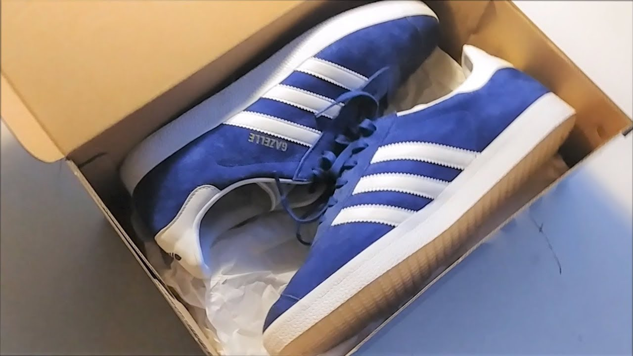 28a7f1783264 Adidas gazelle blue Unboxing FULL HD - YouTube