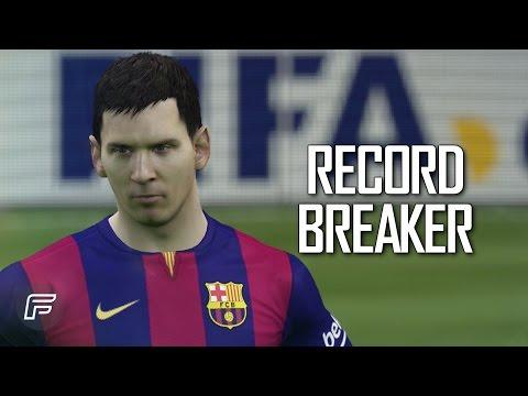 Recrean el récord de Messi en el FIFA 2015