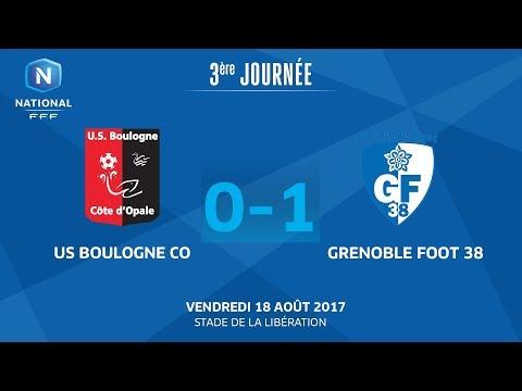 Vendredi 18/08/2017 à 19h45 - US Boulogne CO - Grenoble Foot 38 - J3