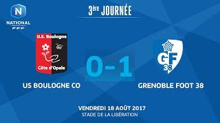 J3 : US Boulogne CO - Grenoble Foot 38 (0-1), le replay