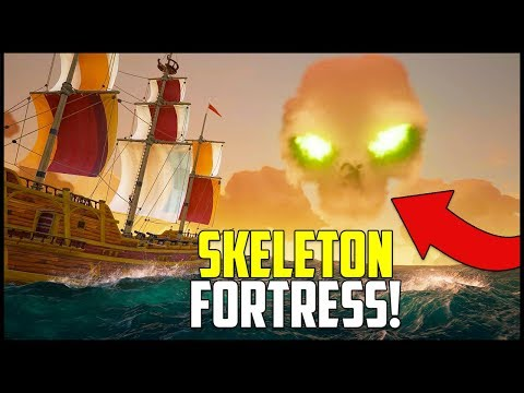 WHATS UNDER THE SKULL CLOUD?! - Skeleton Fortress Raid - Sea of Thieves Gameplay Ep 2