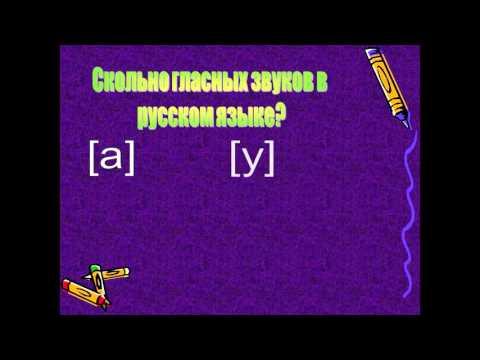 Гласные и согласные звуки и буквы 1 класс