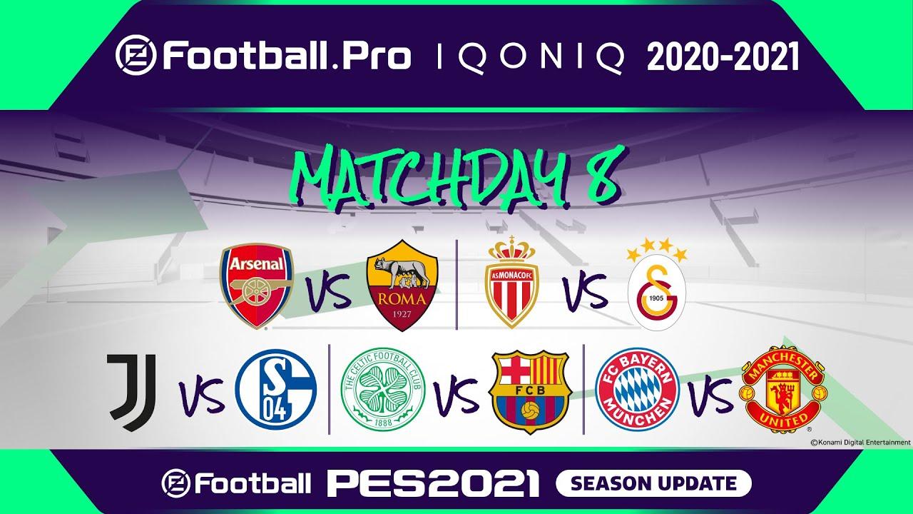 Download PES | eFootball.Pro IQONIQ 2020-21 | MATCHDAY 8 | Arsenal FC vs AS Roma (Featured Match)