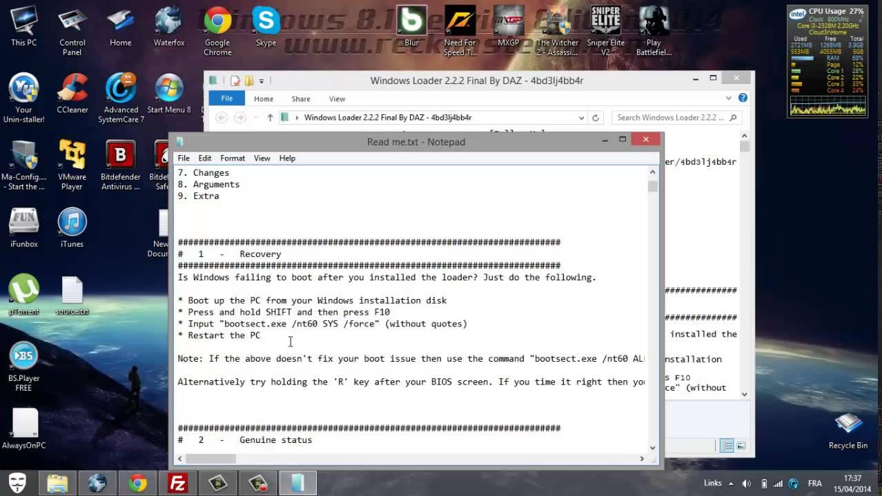 windows 8 loader daz download